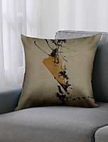 cheap -Double Side 1 Pc Art Deco Cushion Cover  Print 45x45cm Linen for Sofa Bedroom