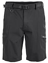 "cheap -Men's Hiking Shorts Solid Color Summer Outdoor 10"" Regular Fit Breathable Soft Comfortable Wear Resistance Nylon Shorts Black Blue Grey Khaki Hunting Fishing Climbing S M L XL XXL"