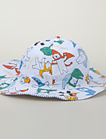 cheap -Boys' Girls' Fisherman Hat Hiking Cap 1 PCS Winter Outdoor Sunscreen Breathable Floral / Botanical Printing Cotton Red and White Blue+Yellow Blue for Fishing Beach Traveling