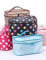 cheap -Women Make up bag Fashion Letter Cosmetic bag organizer Square Travel Handbag Toiletry Organizer Solid High Capacity Bags Girls