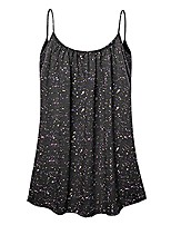 cheap -women's tank top vest loose summer crop tops pleated camis blouse clearance