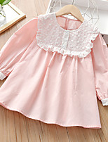 cheap -girls' dresses spring and autumn 2021 new korean children's wear long-sleeved princess skirt baby foreign style tunic