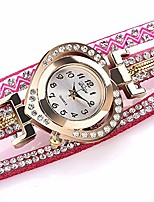 cheap -Analog Quartz Watch with a Velvet Strap dial, Several Bands of Transparent Crystal and Pearls, fine Jewelry, Heart-Shaped Peach Girls and Girls Watch,Pink