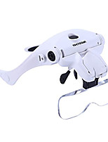 cheap -LED Head Magnifier, Rechargeable Hands Free Headband Magnifying Glass with 2 Led, Professional Jeweler's Loupe Light Bracket and Headband are Interchangeable