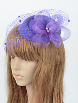 cheap -Elegant Retro Tulle Fascinators with Floral / Hollow-out 1 Piece Special Occasion / Party / Evening Headpiece