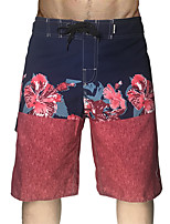 cheap -Men's Swim Shorts Swim Trunks Board Shorts Breathable Quick Dry Drawstring - Swimming Surfing Water Sports Floral / Botanical Summer