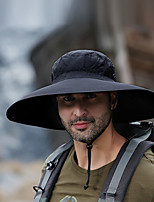 cheap -Men's Fisherman Hat 1 PCS Outdoor Portable Sunscreen Breathable Soft Hat Solid Color Polyester / Cotton Blend Black Yellow Army Green for Fishing Climbing Beach