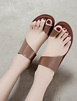 cheap -Women's Sandals Boho Bohemia Beach Flat Heel Round Toe PU Synthetics Brown