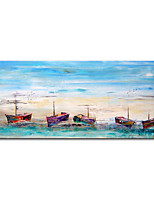 cheap -Mintura Large Size Hand Painted Abstract Boat Landscape Oil Painting on Canvas Modern Art Wall Pictures For Home Decoration (Rolled Canvas without Frame)