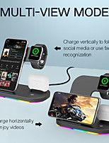 cheap -3 in 1 Wireless Charger with LED Colorful Lights Multi-Output Fast Charging Portable Charger for iPhone 12 11 XR XS Max Samsung S21 Air pods Pro Watch 6 5 4 3