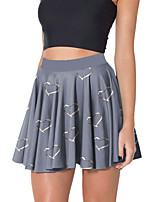 cheap -Women's Going out Casual / Daily Active Party Skirts Graphic Print White Blue Gray