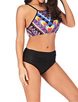 cheap -Women's Tankini Swimwear Breathable Quick Dry Sleeveless 2 Piece - Swimming Surfing Water Sports Floral / Botanical Summer