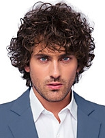 cheap -Synthetic Wig Curly Short Bob Wig Short Black / Brown Synthetic Hair 28 inch Men's Party Fashion Comfy Black Brown