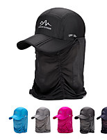 cheap -Women's Visor 1 PCS Outdoor Portable Sunscreen Breathable Soft Hat Solid Color Polyester Black Fuchsia Blue for Fishing Climbing Beach