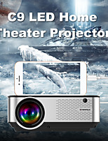 cheap -Mini Projector C9 Projector with Synchronize Smart Phone Screen Upgrade to 2800Lumx 1080P Supported  50000 Hours Led, Compatible with Fire Stick,HDMI,VGA,USB,TV,Box,Laptop,DVD
