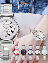 cheap -Women's Steel Band Watches Analog - Digital Quartz Butterly Style Fashion Creative