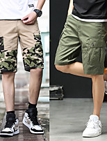 "cheap -Men's Hiking Shorts Hiking Cargo Shorts Camo Summer Outdoor 12"" Multi-Pockets Breathable Soft Wear Resistance Cotton Shorts Black Army Green Camouflage Grey Khaki Hunting Fishing Climbing 29 30 31 32"