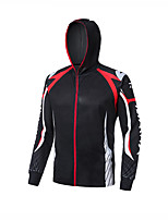 cheap -Men's Hoodie Jacket Skin Coat Outdoor UV Sun Protection UPF50+ Quick Dry Lightweight Jacket Spring Summer Athleisure Fishing Outdoor White+Red Black Yellow / Long Sleeve / Stretchy / Breathable