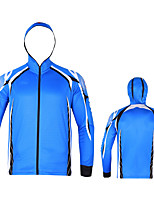 cheap -Women's Men's Hoodie Jacket Skin Coat Outdoor UV Sun Protection UPF50+ Quick Dry Lightweight Jacket Spring Summer Athleisure Fishing Outdoor White Black Blue / Long Sleeve / Stretchy / Breathable