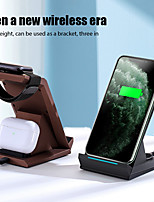 cheap -Front and Back 15W Wireless Charger 3 In 1 Fast Charging Stand for iPhone 12 11 Pro Xs Max 8Plus Apple Watch Series 6 SE Air Pods 2/Pro,Holder Wireless Charger for Samsung S21 Huawei Oneplus 9 Xiaomi