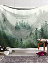 cheap -Wall Tapestry Art Decor Blanket Curtain Hanging Home Bedroom Living Room Decoration Polyester Green Forest Fog