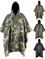 cheap -Women's Men's Rain Poncho Waterproof Hiking 3-in-1 Jacket Rain Jacket Winter Summer Outdoor Camo Waterproof Windproof Quick Dry Lightweight Raincoat Poncho Top Fishing Climbing Beach Black Army Green