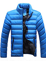 cheap -Men's Sports Puffer Jacket Hiking Fleece Jacket Autumn / Fall Winter Outdoor Quick Dry Lightweight Breathable Sweat wicking Winter Jacket Top Climbing Camping / Hiking / Caving Black Red Sky Blue