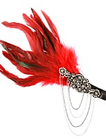 cheap -1920s Retro Crystal Fascinators with Feather / Crystals 1 Piece Special Occasion / Party / Evening Headpiece