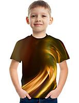 cheap -Kids Boys' Tee Short Sleeve Graphic Children Tops Active Yellow 3-12 Years