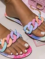 cheap -Women's Slippers & Flip-Flops Flat Heel Open Toe PVC Solid Colored Clear Black Purple
