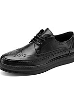 cheap -Men's Oxfords Business Classic Daily Office & Career Faux Leather Breathable Non-slipping Wear Proof White Black Spring Summer