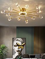 cheap -6/8/12 Heads Crystal Ceiling Light Chandelier Flush Mount Lights Copper Brass LED Nordic Style 220-240V