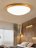 cheap -35/40/45cm Dimmable Flush Mount Lights Wood Painted Finishes LED Nordic Style 110-120V 220-240V