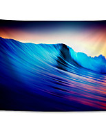 cheap -Wall Tapestry Art Decor Blanket Curtain Hanging Home Bedroom Living Room Colourful Polyester Waves Sea Landscape
