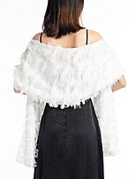 cheap -Sleeveless Elegant & Luxurious / Bridal Polyester Wedding / Party / Evening Women's Wrap With Solid