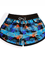 cheap -Women's Swim Shorts Swim Trunks Board Shorts Breathable Quick Dry Drawstring - Swimming Surfing Water Sports Painting Summer / Micro-elastic