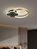 cheap -45/55/98 cm LED Ceiling Light Dimmable Black Gold Modern Geometric Shapes Flush Mount Lights Metal Artistic Style Modern Style Stylish Painted Finishes Artistic LED 220-240V