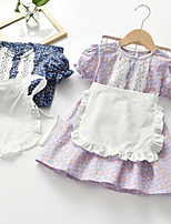 cheap -girls short-sleeved dress 2021 spring and autumn new summer small and medium-sized children's clothing korean baby princess dress foreign trend