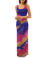 cheap -aelidiya women's tie dye sleeveless scoop neck maxi dress casual long dress beach sundress deep blue