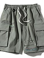 "cheap -Men's Hiking Shorts Summer Outdoor 12"" Regular Fit Breathable Soft Comfortable Wear Resistance Shorts Gray+Green Black Red Khaki Green Hunting Fishing Climbing M L XL XXL XXXL"