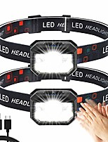 cheap -Head lamp 2 pieces, super bright motion sensor 1500 lumens 11 modes head lamp, USB rechargeable waterproof lightweight led head lamp perfect for running, hiking, camping, cycling, fishing