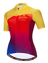 cheap -Women's Short Sleeve Cycling Jersey Red / Yellow Blue+Yellow Pink Bike Jersey Breathable Sports Clothing Apparel / Micro-elastic / Athleisure