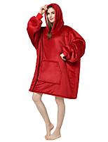 cheap -Adults' Kigurumi Pajamas Anime Onesie Pajamas Flannel Fabric Red Cosplay For Men and Women Animal Sleepwear Cartoon Festival / Holiday Costumes