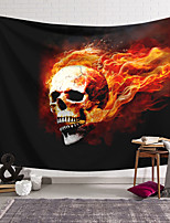 cheap -Wall Tapestry Art Decor Blanket Skull Curtain Hanging Home Bedroom Living Room Decoration and Novelty and Psychedelic