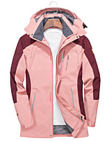 cheap -Women's Hiking Softshell Jacket Hiking Windbreaker Summer Outdoor Patchwork Windproof Quick Dry Lightweight Breathable Jacket Hoodie Top Full Length Visible Zipper Fishing Climbing Beach Red Pink