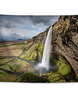 cheap -Wall Tapestry Art Decor Blanket Curtain Hanging Home Bedroom Living Room Grand Polyester Seljalandsfoss Iceland