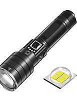 cheap -Outdoor Flashlight Zoomable Torch Light Battery Lever Indicator XHP70 Powerful Torch Discharge Function Rechargeable Bright Flashlight 30W for Outdoor Adventure