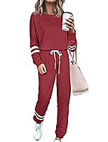 cheap -womens loungewear sweatsuit sets - 2 piece outfits casual long sleeve pullover top and sweatpants workout tracksuits
