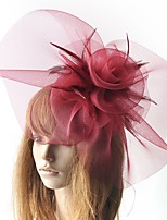 cheap -Retro Hyperbole Tulle Fascinators with Floral / Solid 1 Piece Special Occasion / Party / Evening Headpiece