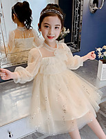 cheap -girls dress spring 2021 new ultra-western fashionable long-sleeved children's spring and autumn princess skirt